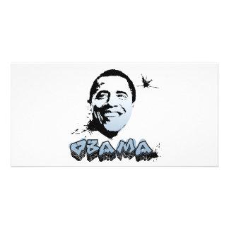 Barack Obama Face Photo Greeting Card
