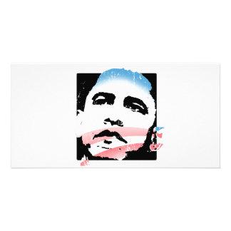 Barack Obama for Hope T-shirt Customized Photo Card