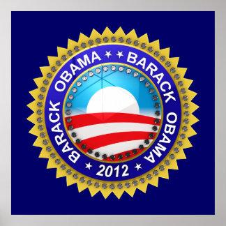 Barack Obama for president 2012 Print