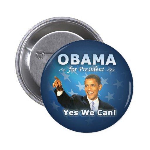 Barack Obama for president Pinback Buttons