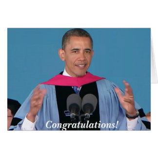 Barack Obama- Graduation Greeting Card