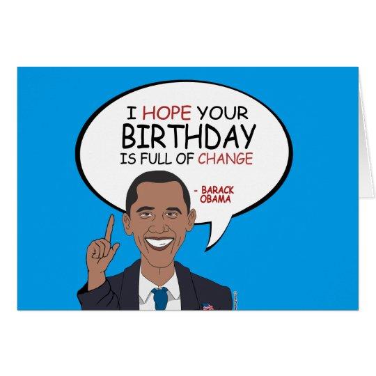 Barack Obama Greeting - Happy Birthday Card