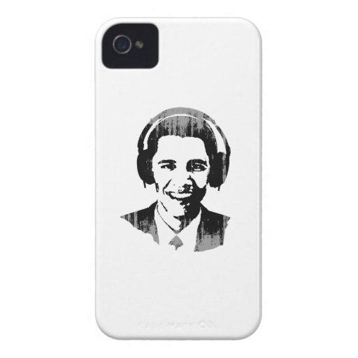Barack Obama headphones Faded.png iPhone 4 Case-Mate Case