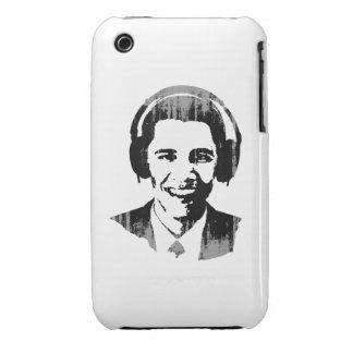 Barack Obama headphones Vintage Case-Mate iPhone 3 Cases