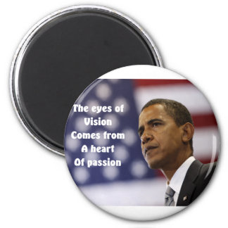 Barack Obama heart of passion 6 Cm Round Magnet