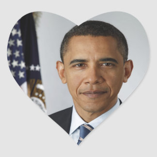 Barack Obama Heart Sticker