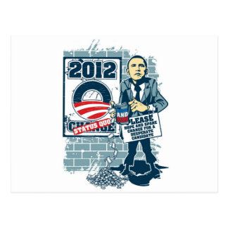 Barack Obama, Hope and Spare Change Postcard