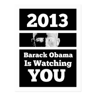 Barack Obama is Watching You Big Brother Parody Post Card