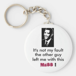 Barack Obama, It's not my fault, keychain