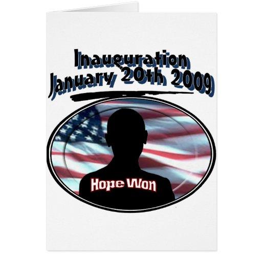 Barack Obama January 20th 2009 Inauguration Greeting Card