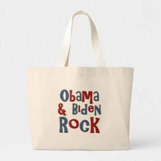 Barack Obama Joe Biden Rock Canvas Bags