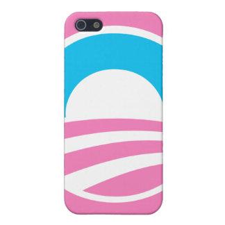 Barack Obama Large O Logo Pink iPhone Case iPhone 5 Cover