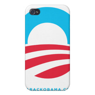 Barack Obama Large O Logo White iPhone Case Covers For iPhone 4