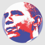 Barack Obama - Leadership Classic Round Sticker