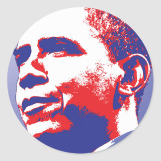 Barack Obama - Leadership Classic Round Sticker