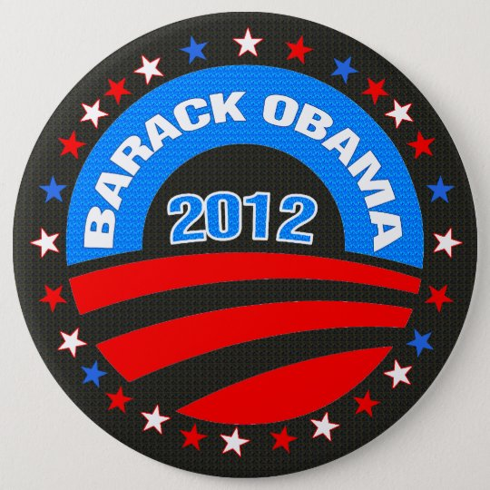 Barack Obama Logo 2012 Black Background 6 Cm Round Badge