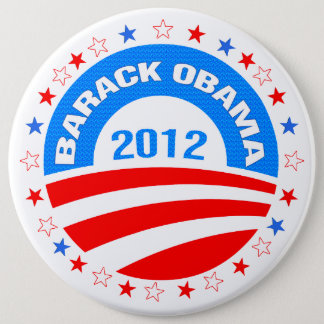 Barack Obama  Logo 2012-Diamond Pattern Texture 6 Cm Round Badge
