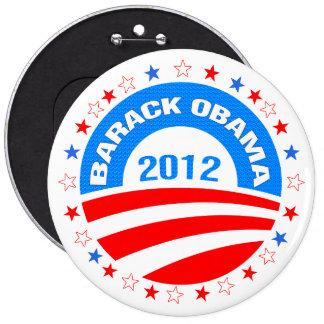 Barack Obama  Logo 2012-Diamond Pattern Texture 6 Cm Round Badge