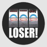 Barack Obama - Loser! Round Stickers