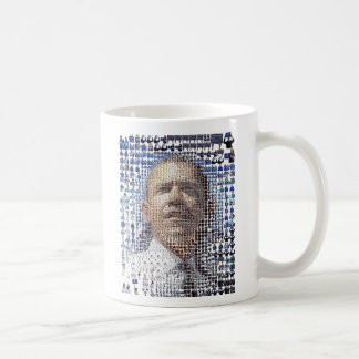 barack-obama-mosaic-portrait, Barack Obama44th ... Basic White Mug