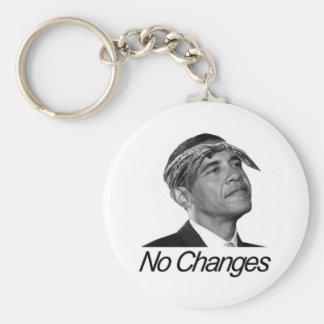 Barack Obama No Changes Basic Round Button Key Ring