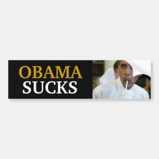 BARACK OBAMA - OBAMA SUCKS BUMPER STICKER