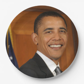 Barack Obama Official Portrait Paper Plate