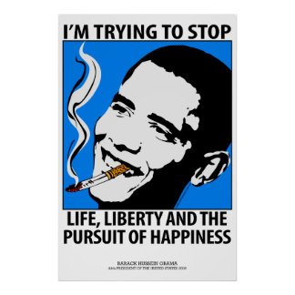 Barack Obama Politics Satire Poster