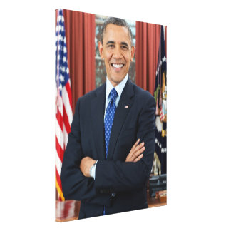 Barack Obama portrait Canvas Print
