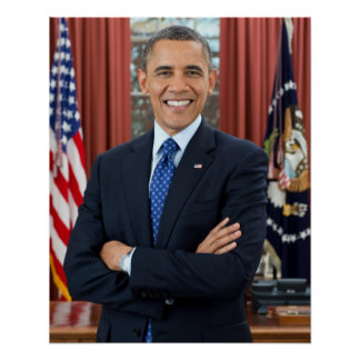 Barack Obama portrait Poster