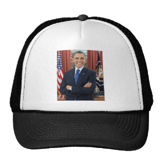 Barack Obama portrait Trucker Hats