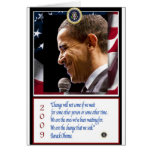 Barack Obama Poster Greeting Card