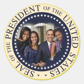Barack Obama President of the United States Round Sticker