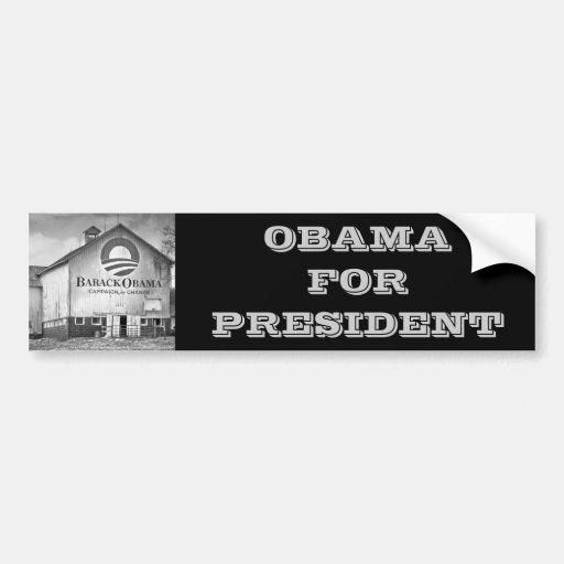 Barack Obama Presidential Campaign Barn Bumper Stickers