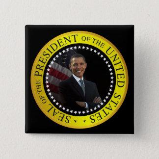 Barack Obama - Presidential Seal 15 Cm Square Badge