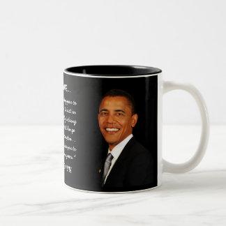 Barack Obama President's Day 2009 Two-Tone Coffee Mug