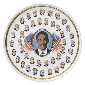 Barack Obama - Presidents Of The United States Dinner Plates
