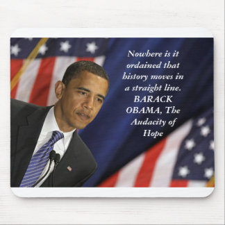 Barack Obama Quote on History Mouse Mat