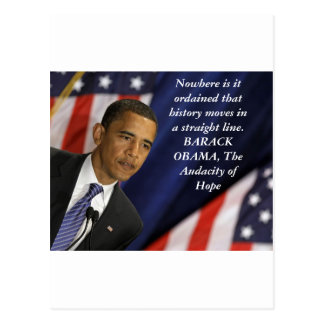 Barack Obama Quote on History Postcard