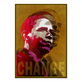 Barack Obama Red & Gold Poster