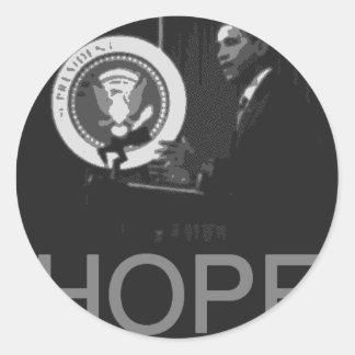 Barack Obama Round Sticker