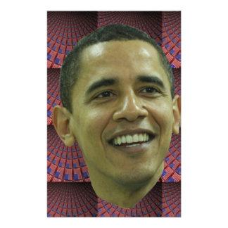 Barack Obama s Face Customized Stationery