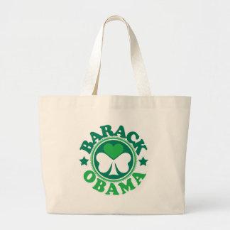 Barack Obama Shamrock Heart Large Tote Bag