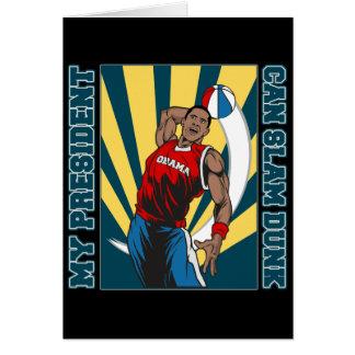 Barack Obama Slam Dunk Card