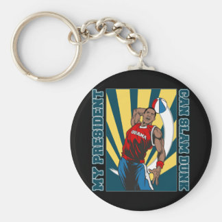 Barack Obama Slam Dunk Key Ring