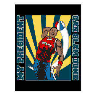 Barack Obama Slam Dunk Postcard