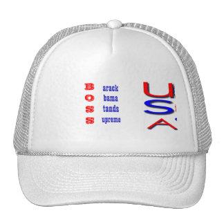 barack obama stands supreme election hats