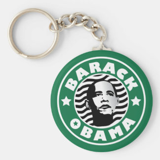 Barack Obama Star Caffeine Basic Round Button Key Ring