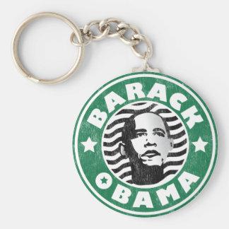 Barack Obama Star Caffeine Keychain
