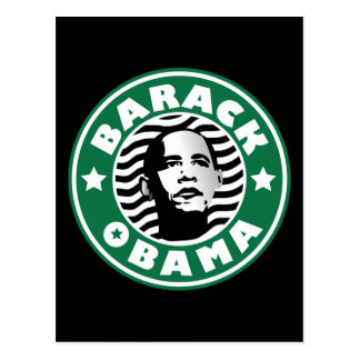 Barack Obama Star Caffeine Postcard